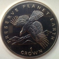 Moneta > 1corona, 1994 - Gibilterra  (Preservare il pianeta terra - Aquila iberica) - obverse