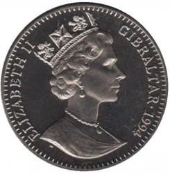 Moneta > 1corona, 1994 - Gibilterra  (Preservare il pianeta terra - Smilodonte) - obverse
