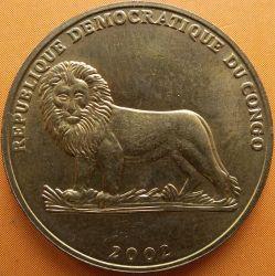 Մետաղադրամ > 1ֆրանկ, 2002 -  Կոնգոյի Դեմոկրատական Հանրապետություն  (Animal - Cock) - obverse
