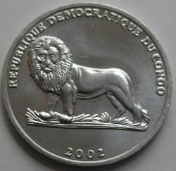 Մետաղադրամ > 25սամտիմ, 2002 -  Կոնգոյի Դեմոկրատական Հանրապետություն  (Animal - Barbary Sheep) - obverse