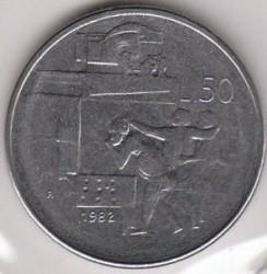 Moneda > 50lire, 1982 - San Marino  (Assoliments Socials) - obverse