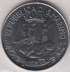 Монета > 100лір, 1982 - Сан-Марино  (Соціальні досягнення) - reverse
