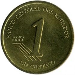 Moneta > 1sentavas, 2000-2003 - Ekvadoras  - reverse