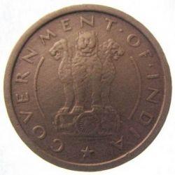 Mynt > 1pice, 1950-1955 - India  - reverse