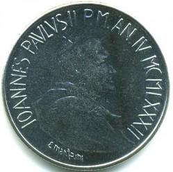 Mynt > 50lire, 1982 - Vatikanstaten  - obverse
