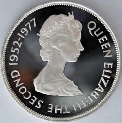 Moneta > 25pence, 1977 - Jersey  (25° anniversario - Regno della regina Elisabetta II) - obverse
