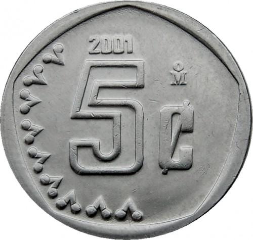 1992 MEXICO 5 Centavos Snake Eagle UNC World Coin KM:546
