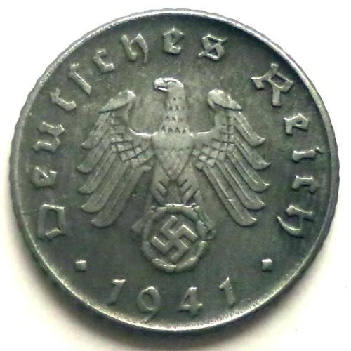 Currency Germany 1942 WW2 Wehrmacht 3rd Reich Nazi Era 05 RPF Uncirculated