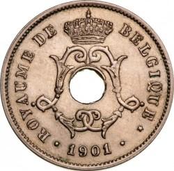 """Moneda > 10centimes, 1901-1903 - Bèlgica  (Llegenda en francès - """"BELGIQUE"""") - obverse"""