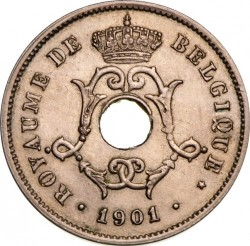 "Moneda > 10centimes, 1901-1903 - Bèlgica  (Llegenda en francès - ""BELGIQUE"") - reverse"