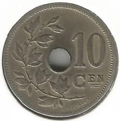 Minca > 10centimes, 1902-1903 - Belgicko  (Legend in Dutch - 'BELGIË') - reverse