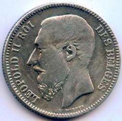 Minca > 2francs, 1866-1868 - Belgicko  - obverse