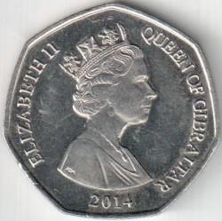 מטבע > 50פנס, 2014-2016 - גיברלטר  - obverse