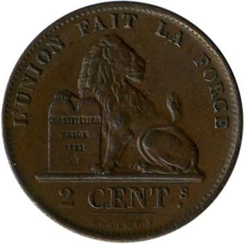 2 Centimes 1869 1909 Des Belges Belgien Münzen Wert Ucoinnet