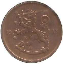 Münze > 5 Penny, 1918 - Finnland  (Lion on the obverse) - reverse