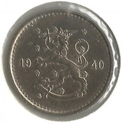 Münze > 50Penny, 1940 - Finnland  (Copper-Nickel /gray color/) - obverse
