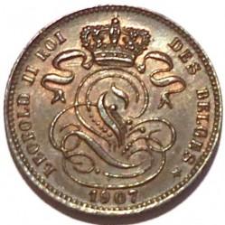 "Moneda > 1centime, 1869-1907 - Bèlgica  (Llegenda en francès -  ""DES BELGES"") - obverse"