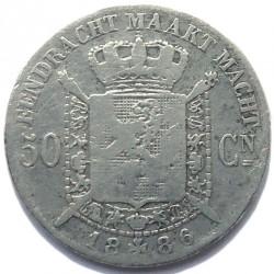 """Moneda > 50centimes, 1886-1899 - Bèlgica  (Llegenda en holandès - """"DER BELGEN"""") - reverse"""