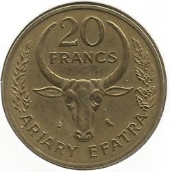 錢幣 > 20法郎, 1970-1989 - 馬達加斯加  - reverse
