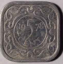 العملة > 5سنت, 1976-1986 - سورينام  - reverse