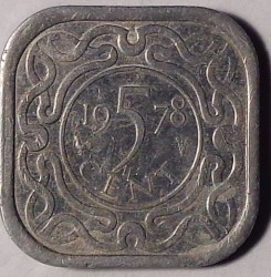 Монета > 5цента, 1976-1986 - Суринам  - reverse