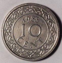 Moneta > 10centų, 1987-2017 - Surinamas  - reverse