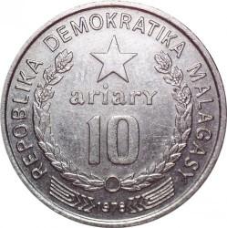 Кованица > 10ариариа, 1978 - Мадагаскар  - reverse