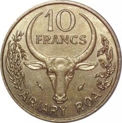 Moneta > 10frankų, 1984 - Madagaskaras  - reverse