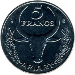 錢幣 > 5法郎, 1996 - 馬達加斯加  - reverse