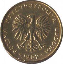 Монета > 5злотих, 1986-1988 - Польща  - obverse
