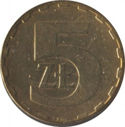 Кованица > 5злота, 1986-1988 - Пољска  - reverse