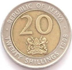 Coin > 20shillings, 1998 - Kenya  - reverse