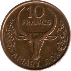 錢幣 > 10法郎, 1996 - 馬達加斯加  - obverse