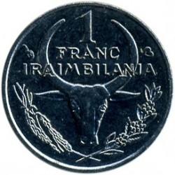 錢幣 > 1法郎, 1965-2002 - 馬達加斯加  - reverse