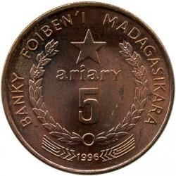 錢幣 > 5阿里亞里, 1996 - 馬達加斯加  - obverse