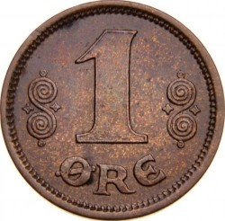 Монета > 1эре, 1913-1923 - Дания  - obverse