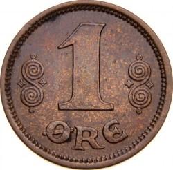Монета > 1эре, 1913-1923 - Дания  - reverse