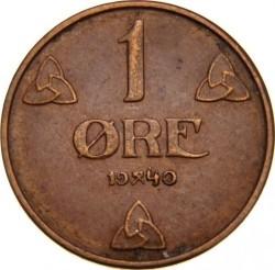 Moneta > 1ore, 1908-1952 - Norwegia  - reverse
