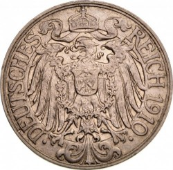 Coin > 25 pfennig, 1909-1912 - Germany  - reverse