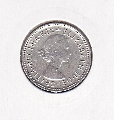 Австралия, 6 пенсов (1958 г