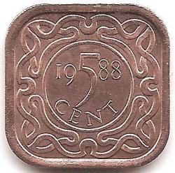 العملة > 5سنت, 1987-2015 - سورينام  - obverse