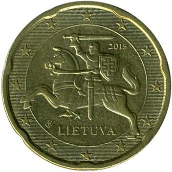 20 Eurocent 2015 2018 Litauen Münzen Wert Ucoinnet