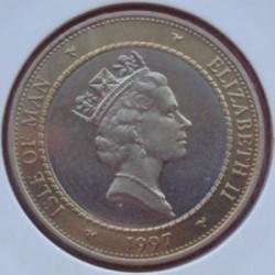Moneta > 2funty, 1997 - Wyspa Man  (Bimetal) - obverse