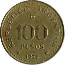 سکه > 100پزو, 1978 - آرژانتین  (200th Anniversary - Birth of José de San Martín) - obverse