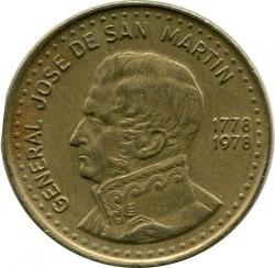 سکه > 100پزو, 1978 - آرژانتین  (200th Anniversary - Birth of José de San Martín) - reverse