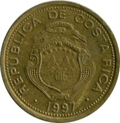 Moneda > 5 colones, 1997 - Costa Rica  - reverse