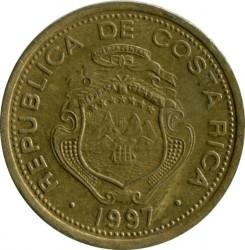 Moneta > 5colones, 1997 - Costa Rica  - reverse