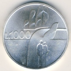 Монета > 1000лір, 1990 - Сан-Марино  (Шістнадцять століть історії) - obverse