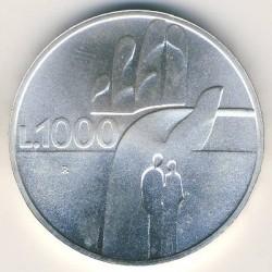Монета > 1000лір, 1990 - Сан-Марино  (Шістнадцять століть історії) - reverse