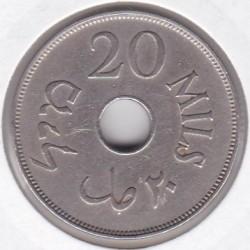 Pièce > 20mils, 1927-1941 - Palestine  - reverse